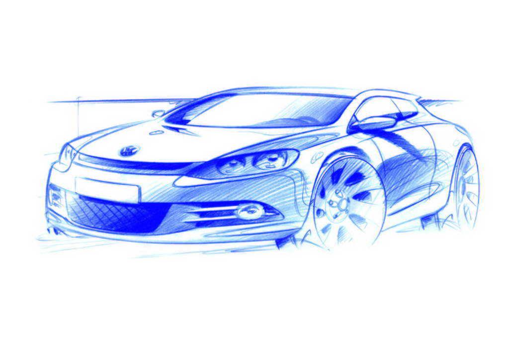 Volkswagen Scirocco /Designskizzen