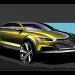 Audi показала первые рисунки Ауди Q4 2014