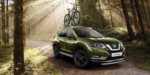 зеленый Nissan X-Trail 2019